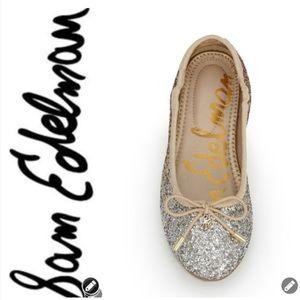 NWT Sam Edelman Felicia Glitter Ballet Flats